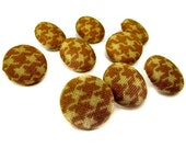 Black Friday Etsy Free Shipping Etsy Yellow Houndstooth Fabric Covered Buttons