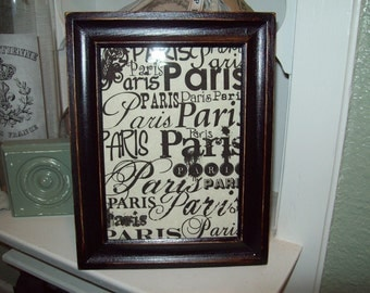 Shabby Paris picture 5x7 frame Paris words,shabby chic,Paris decor,French decor,Paris bedroom decor,wall decor,wall hanging,French bedroom