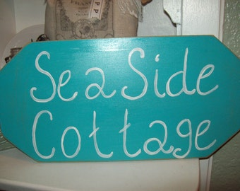 Shabby chic Beach decor seaside cottage sign,Beach bedroom decor,wall decor,Beach bathroom,Beach cottage
