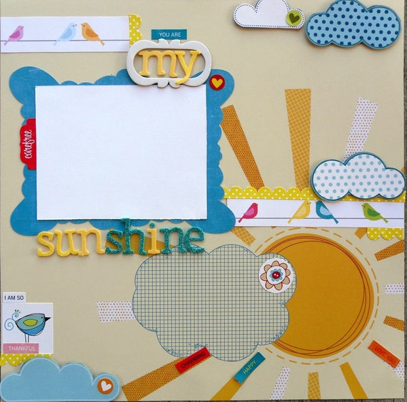 SALE - You are my Sunshine 12 x 12 premade page
