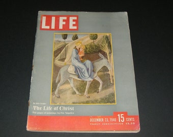 Vintage LIFE Magazine - December 23, 1946 - Ephemera - Paper - Collectible - The Life of Christ - Colorful Ads