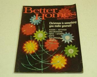 Vintage Better Homes and Gardens magazine December 1967