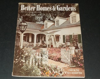 Vintage Better Homes and Gardens Magazine July 1940--Art-Scrapbooking-Old Ads