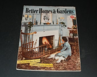 Vintage Better Homes and Gardens February 1941- Neat Old Ads, Art, Scrapbooking, Collectible