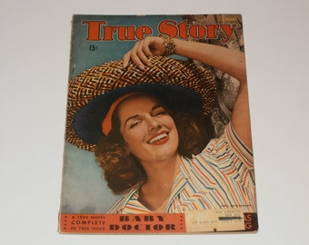 Vintage True Story Magazine January 1942 World War 2 Era Art Scrapbooking Vintage Ads Paper Ephemera