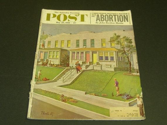 Vintage Saturday Evening Post magazine May 20 1961-Art Scrapbooking Vintage Ads Paper Ephemera