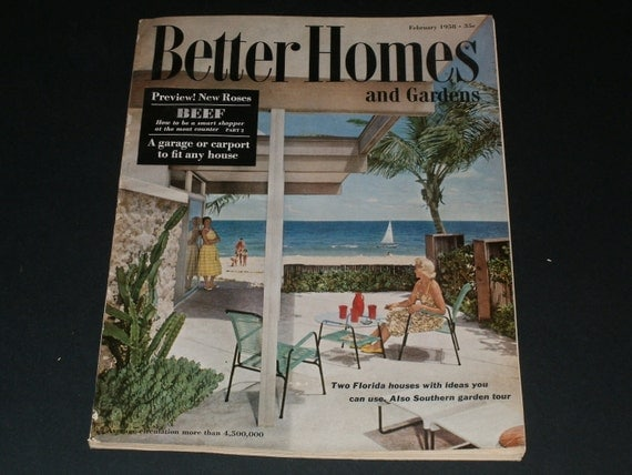 Vintage better homes and gardens magazine february for Better home and garden magazine