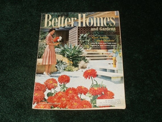 Vintage Better Homes and Gardens Magazine July 1959 - Art Vintage Ads Scrapbooking Retro Collectible