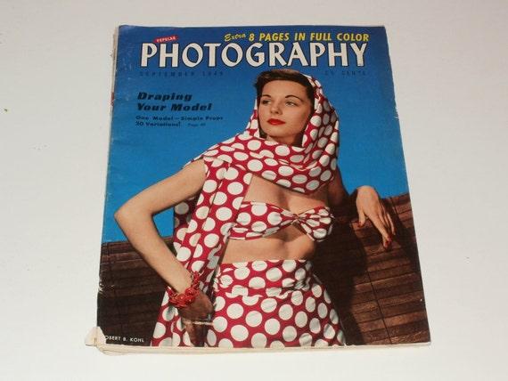 Vintage September 1949 Popular Photography Magazine - Joan Crawford - Art Photos Vintage Ads Scrapbooking
