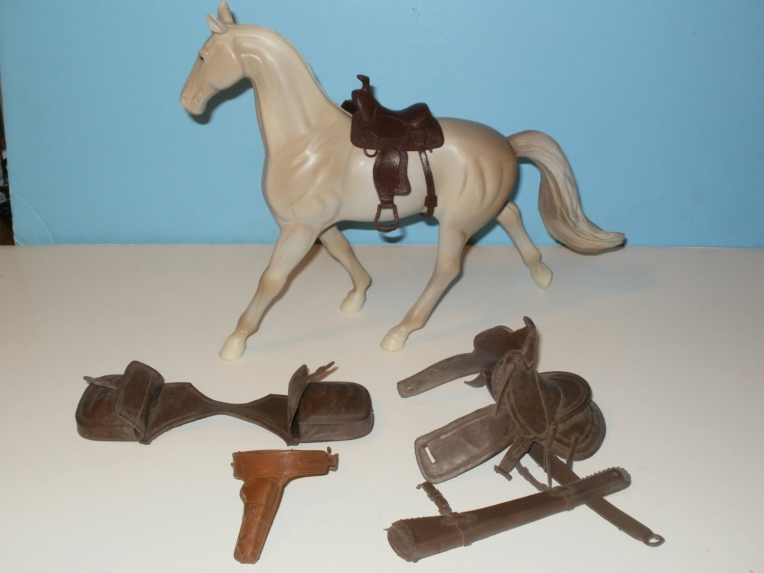 Vintage 1960s toy saddles saddle bags and by kennyscrafts on etsy