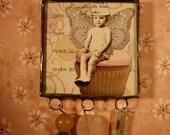 Cupcake Fairy Beaded Fridge Jewelry Magnet