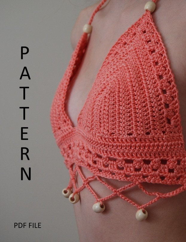 Crochet Bikini Pattern : PDF Crochet Bikini Top Pattern by crochetincolor on Etsy
