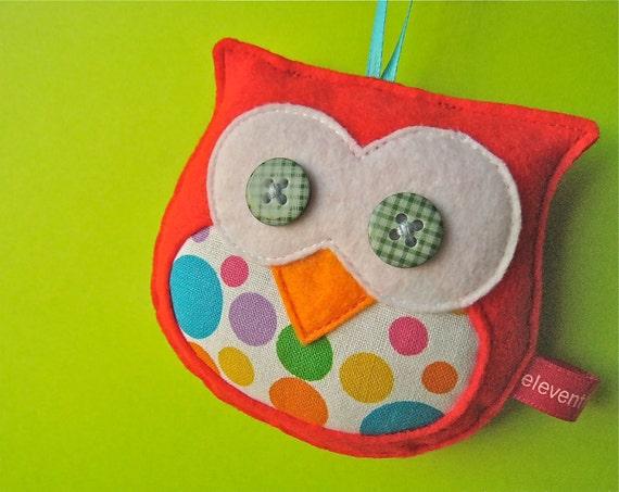 Red Owl - Plush Felt Ornament