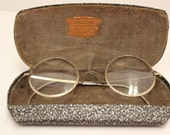 Vintage Eye Glasses 12K Gold Spectacles with Case