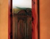 Cedar Framed Mirror, Clear Coat Finish, 30 x 36 - Handmade