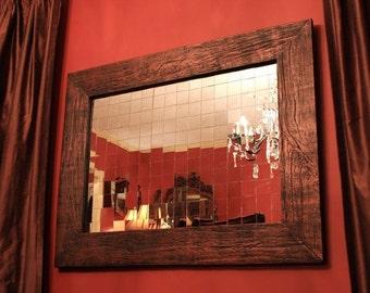 Mirror Mosaic Framed Mirror, Antique Copper Black Finish, 30 x 40 - Handmade