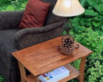End Table, Maple, Shaker Contemporary, Light Golden Wax Finish - Handmade