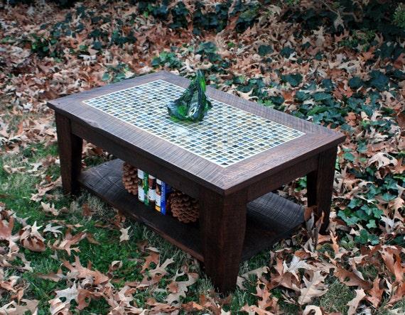 Coffee Table With Shelf Mosaic Tile Coffee Table With Shelf