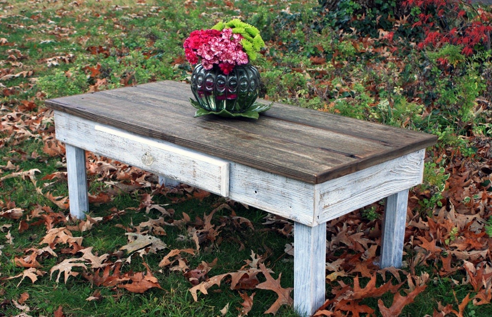 Large coffee table reclaimed wood rustic contemporary for Large contemporary coffee tables