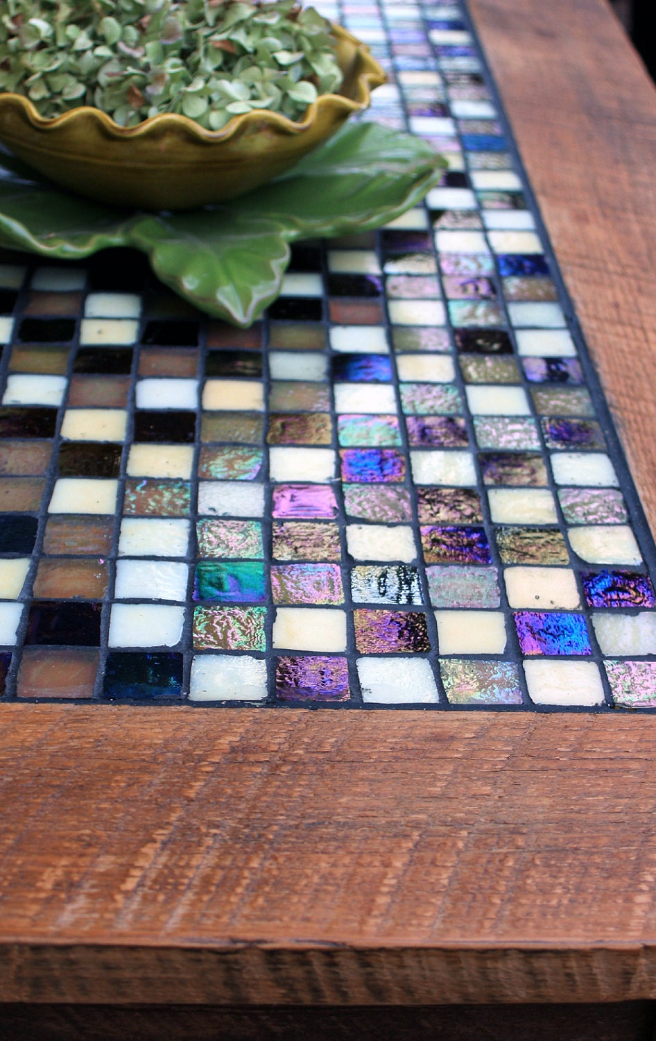 Tile Mosaic Coffee Table Rustic Tile Coffee Table Iridescent