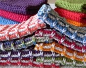 Set of 8 - Cotton Ribbed Washcloths