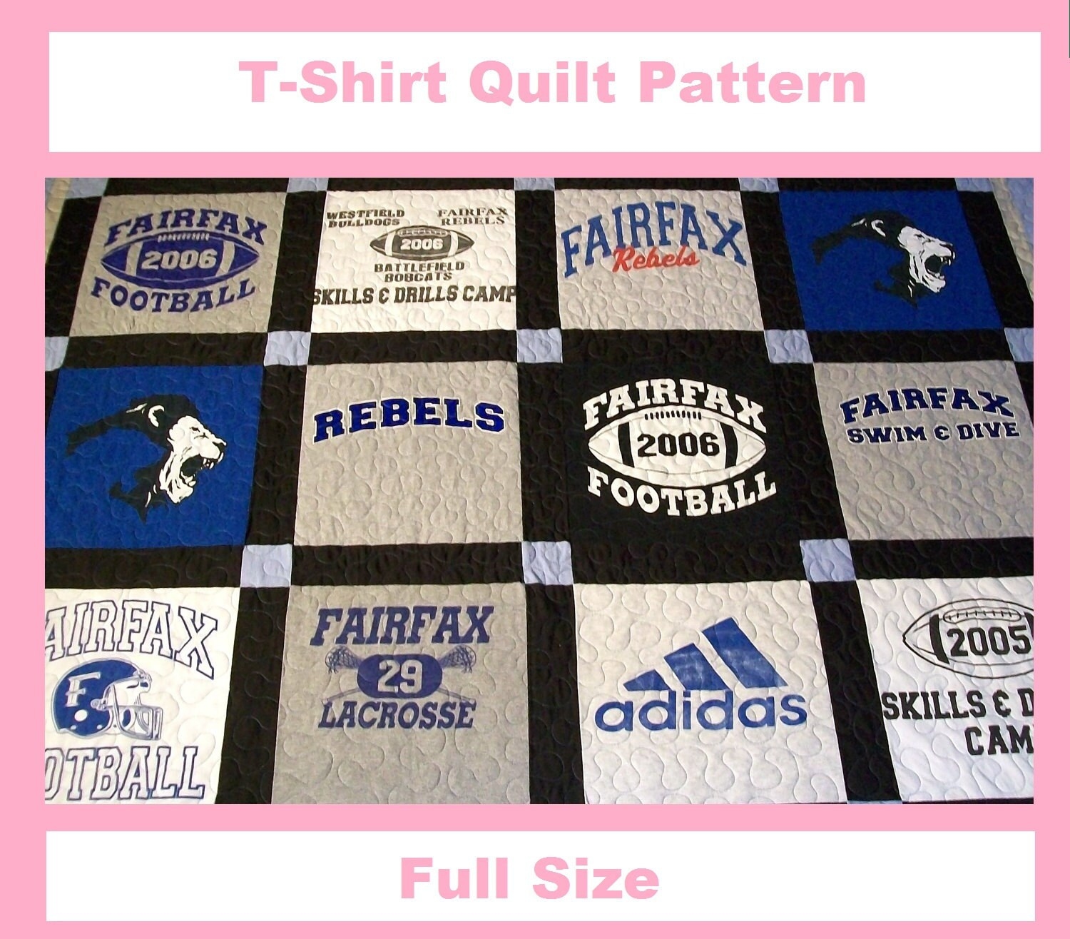 Tshirt Quilt Pattern Pdf E Book How To Make A T Shirt