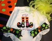 Ready to Ship Sz 5T If the Shoe fits..Witch Bloomers..perfect for Costumes, Photo Props, Birthdays, and more - up to size 5t