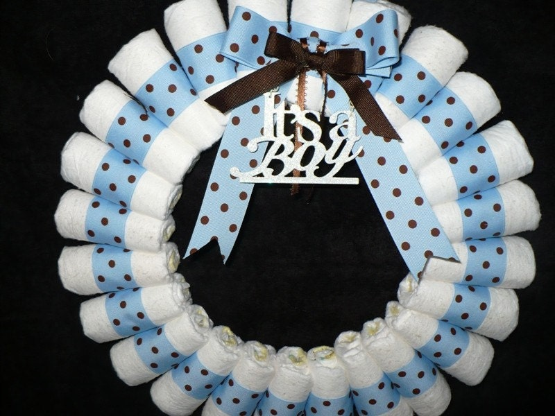 diaper wreath it 39 s a boy
