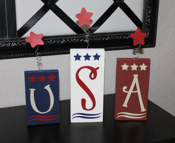 USA Firecracker Blocks- 4th of July, Patriotic, wood blocks, America