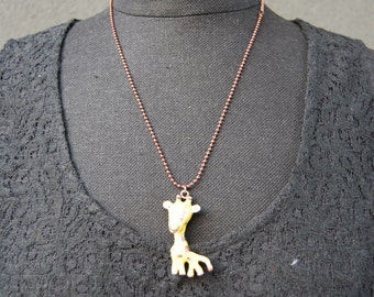 giraffe pendant necklace