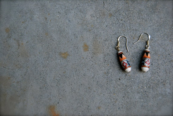 peruvian wooden earrings