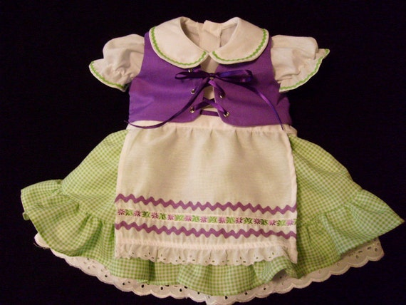 OOAK Boutique Octoberfest Inspired Dirndl Party Dress Outfit Size 2