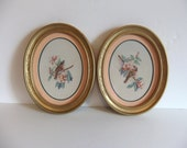 Vintage Oval Bird Pictures