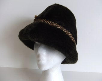 Vintage Men's Hat Faux Fur