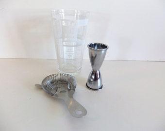 Vintage Drink Mixer Barware Glass Coctail Drink Mixer
