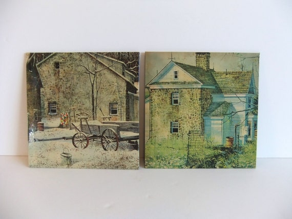 Vintage Litho Picture Lithograph Wall Hanging DAC NY