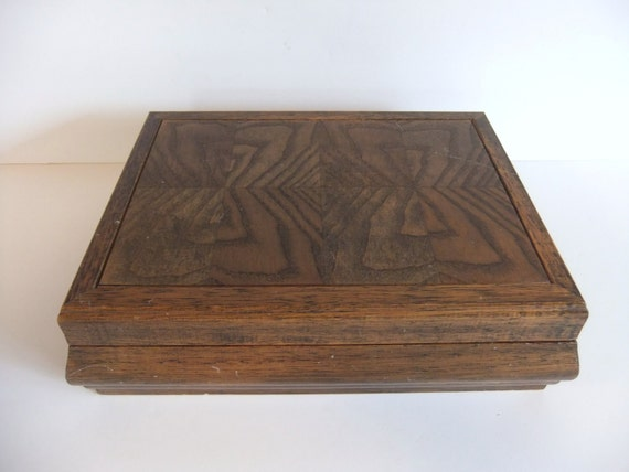 Solid Wood Vintage Jewelry Box
