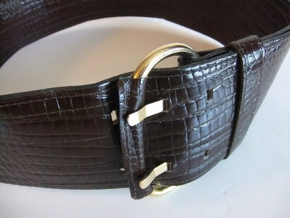 Brown Leather Belt by Abbe Creation