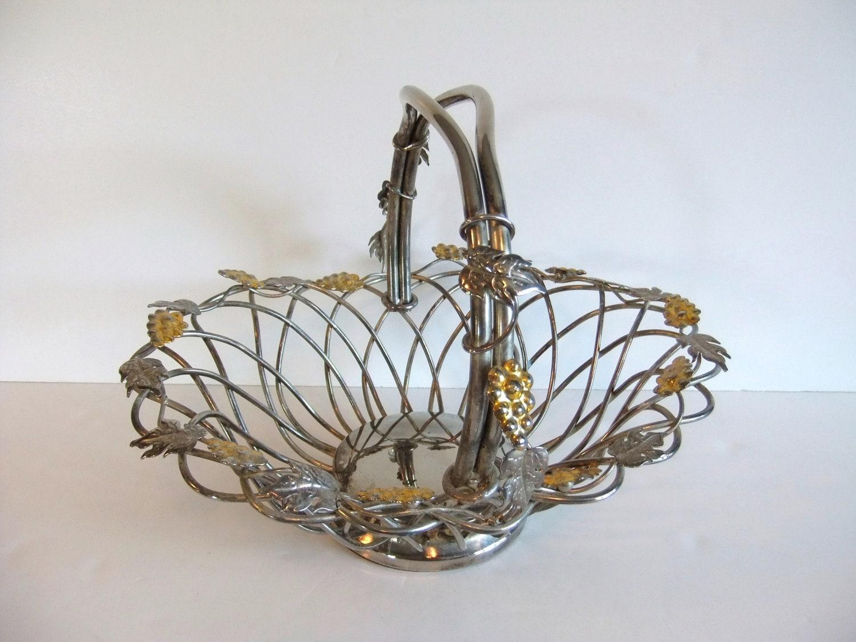 Godinger Silver Art Co Basket : On sale vintage basket godinger silver art by