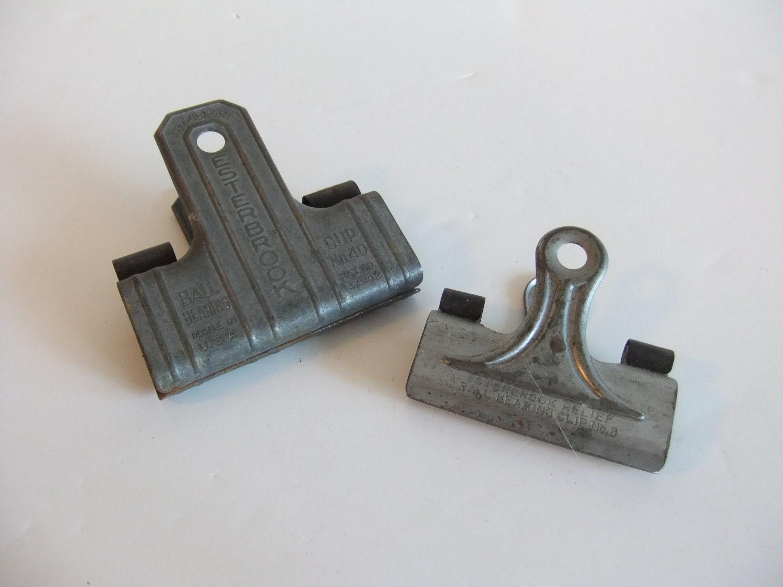 Vintage Metal Clips Industrial Paper Clip
