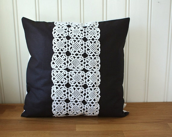 pillow cover 16x16 inches -night garden collection no. 13