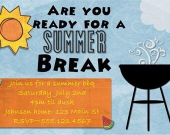 Summer BBQ invitation- DIGITAL