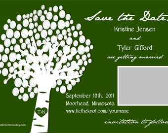 Customizable Wedding Save the Date-Tree