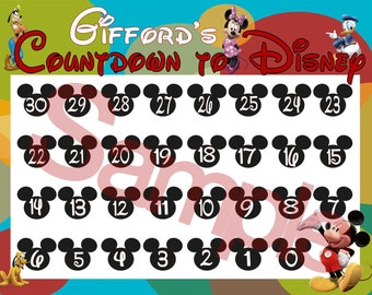 PRINT AT HOME-Digital-Countdown to Disney Calendar