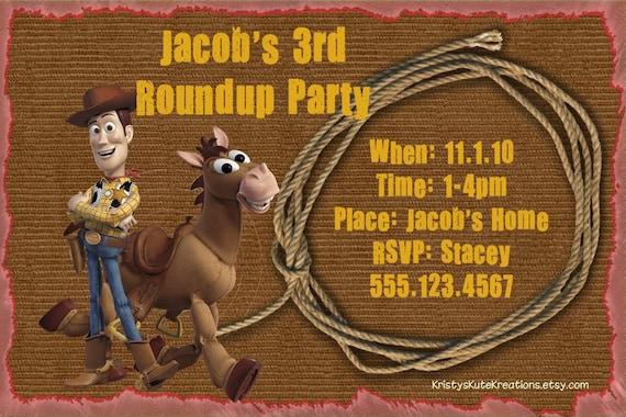 Invitacion Cumpleanos Woody Imagui