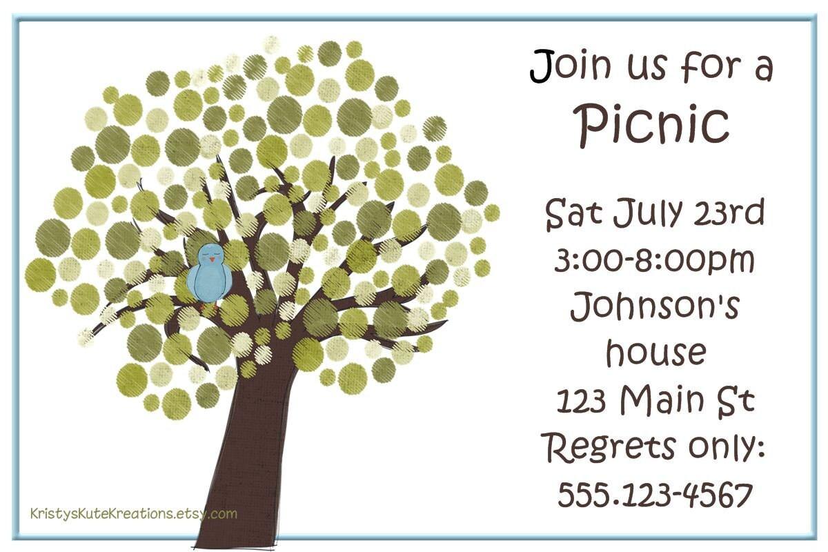 Customizable Picnic Invitation – Picnic Invitation
