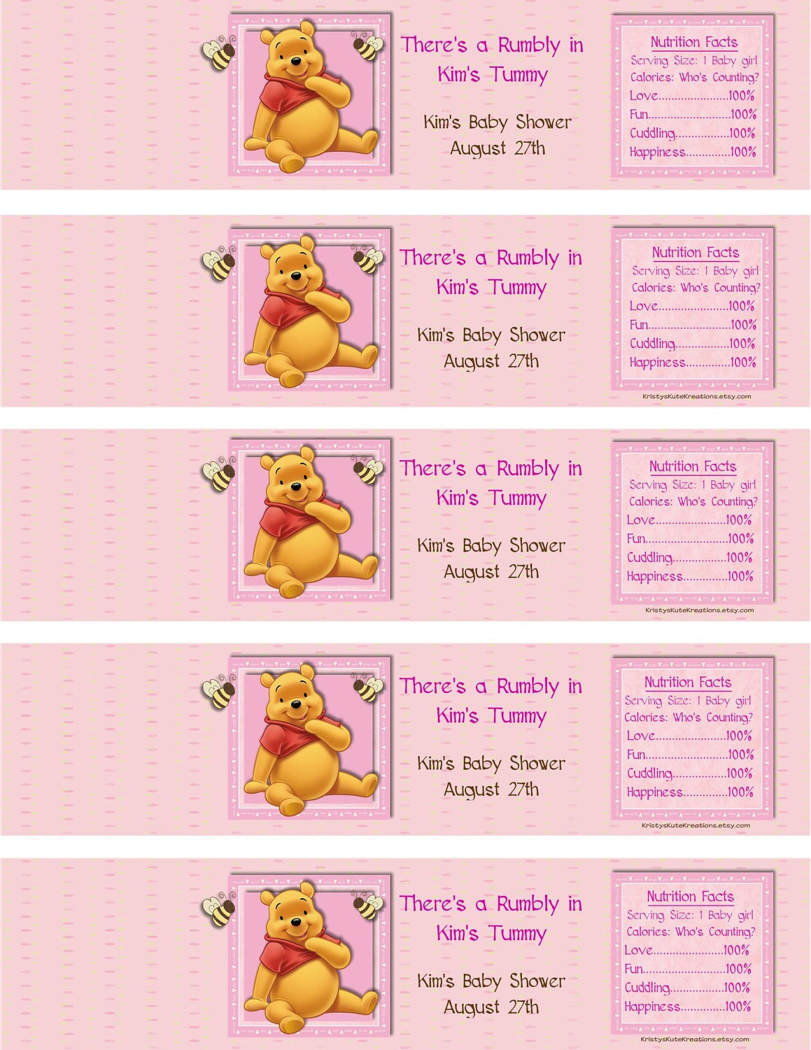 Winnie the Pooh Baby Shower Templates 1159 x 1500