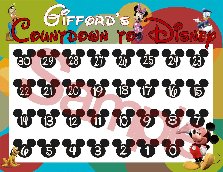 Print At Home Digital Countdown To Disney Calendar