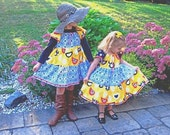 Tweet Tweet and Love Yellow and Black Dressie sizes 2T - 7/8 Buy 1 Get the 2nd for less