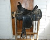 Black Slick Fork Saddle from the early 1900s